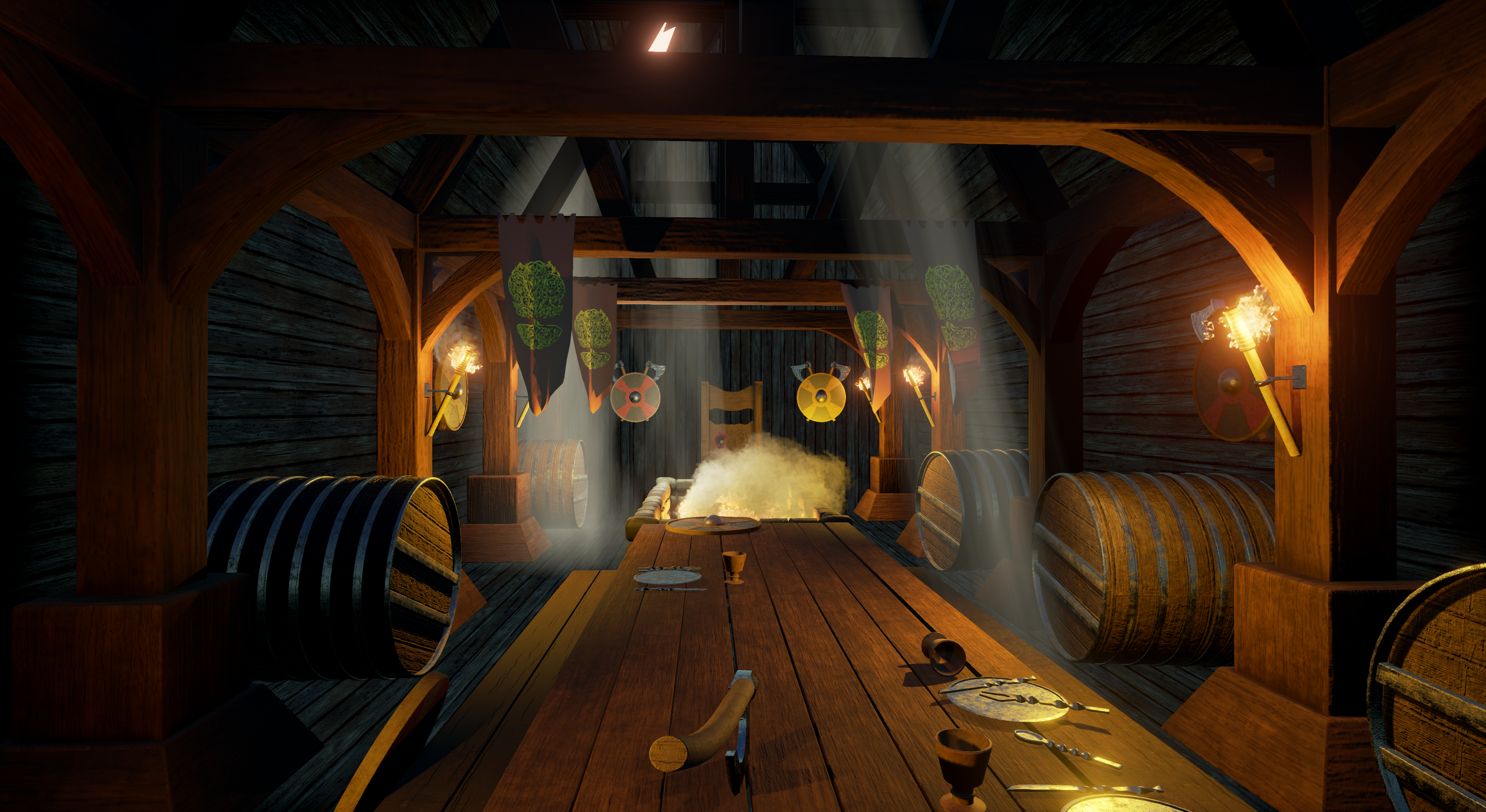 Viking mead hall